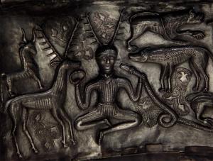 Antlered figure on the Gundestrup Cauldron
