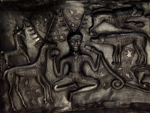 Antlered figure on the Gundestrup Cauldron