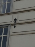 Symbol on house.